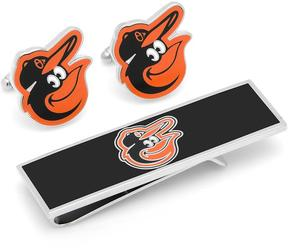 Ice Baltimore Orioles Cufflinks and Money Clip Gift Set