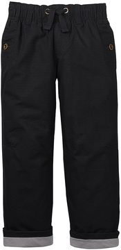 Gymboree Black Jersey-Lined Ripstop Pants - Toddler & Boys