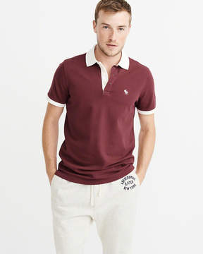 Abercrombie & Fitch Icon Contrast Polo