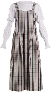 DAY Birger et Mikkelsen SHRIMPS Enya checked wool pinafore dress