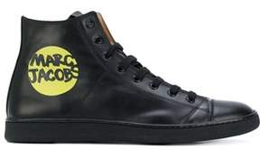 Marc Jacobs Men's Black Leather Hi Top Sneakers.