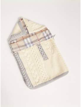Burberry Cable Knit Wool Cashmere Baby Nest