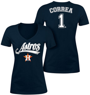 5th & Ocean Women's Carlos Correa Houston Astros Foil Player T-Shirt