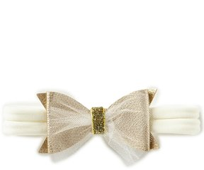 Starting Out Baby Girls Faux Leather Double Bow Headwrap