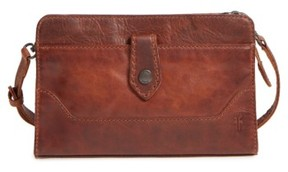 Frye Melissa Leather Crossbody Clutch - Brown