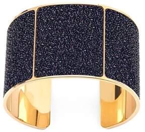 Aspinal of London Minerva Cuff Bracelet In Black Multi Sparkle
