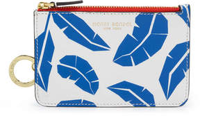 Henri Bendel West 57Th Leaf Print Mini Zip Coin Purse