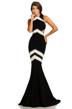 Johnathan Kayne 8056 Two-Toned Mermaid Evening Gown