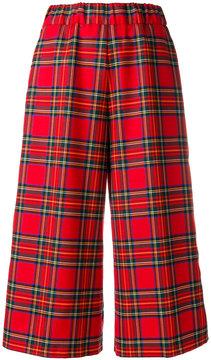 P.A.R.O.S.H. wide leg tartan trousers