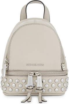 MICHAEL Michael Kors Rhea studded leather backpack - BLACK - STYLE