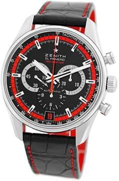 Zenith El Primero Red 36,000 VpH 03.2043.400 Stainless Steel Mens StrapWatch