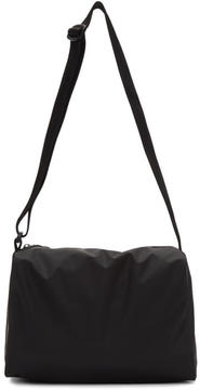 MM6 MAISON MARGIELA Black Rubber Duffle Bag