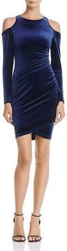 Aqua Cold-Shoulder Velvet Dress - 100% Exclusive