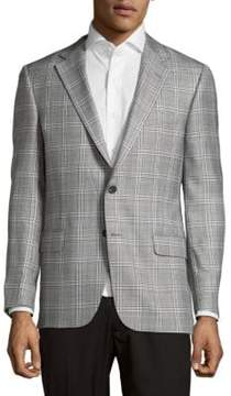 Hickey Freeman Textured Plaid Jacket