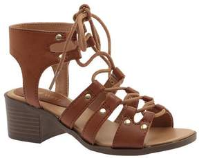 Nine West Girls' Kacies Ghillie Lace Up Sandal