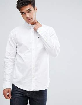 Hollister Oxford Shirt Buttondown Slim Fit in White