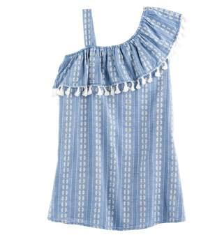 My Michelle Girls 7-16 Asymmetrical One-Shoulder Chambray Dress