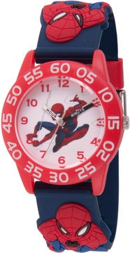 Marvel Spiderman Boys Blue Strap Watch-Wma000169