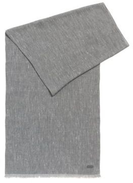 HUGO BOSS Viscose Cotton Scarf Carrit One Size Grey
