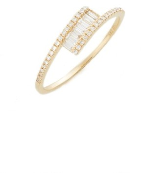 Ef Collection Women's Baguette Diamond Ring