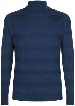 John Smedley Tonal Stripe Rollneck Sweater
