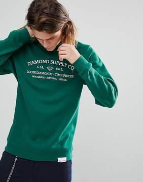 Diamond Supply Co. Sweatshirt With Time Piece Print