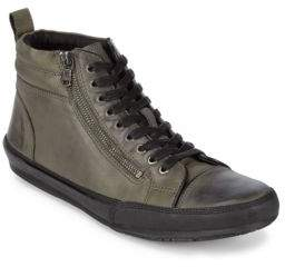 John Varvatos Zippered Leather Sneakers