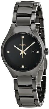 Rado True Black Dial Black Ceramic Ladies Watch