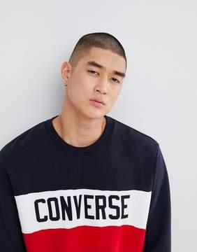 Converse Color Block Sweatshirt In Red 10005834-A03