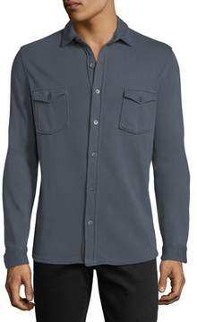Majestic Cotton Patch-Pocket Overshirt