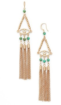 Ettika Women's Evil Eye 18K Gold Plated Drop Earrings