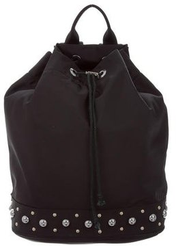Rebecca Minkoff Studded Nylon Backpack - BLACK - STYLE