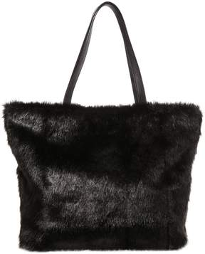 Betsey Johnson BEJEWELED FUR TOTE