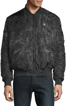 Cult of Individuality Men's Reversible Camo Bomber Jacket