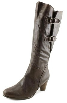 Gabor 36.596 W Round Toe Leather Knee High Boot.