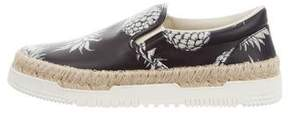 Valentino Printed Leather Slip-On Sneakers w/ Tags