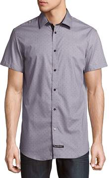 English Laundry Men's Dotted Cotton Button-Down Shirt