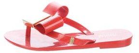 Mini Melissa Girls' Studded Thong Sandals