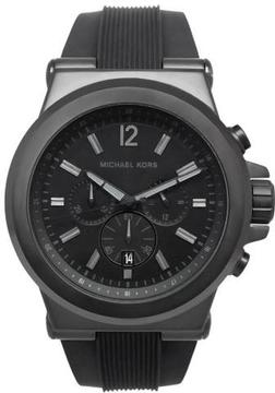 Michael Kors MK8152 Men's Classic Black Rubber Watch with Chronograph