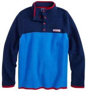 Vineyard Vines Boy's Party Snap Placket Fleece Pullover