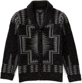 Pendleton Harding Pattern Shawl Collar Long-Sleeve Cardigan