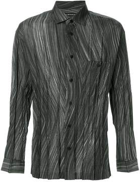 Issey Miyake striped pleated shirt