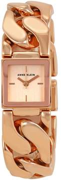 Anne Klein Rose Gold Dial Stainless Steel Bangle Ladies Watch