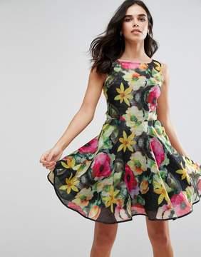 AX Paris Floral Print Chiffon Skater Dress