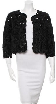 Oscar de la Renta Embroidered Fur Capelet w/ Tags