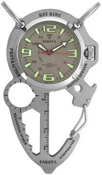 Dakota Men's Steel Multi Tool Clip Watch 38571