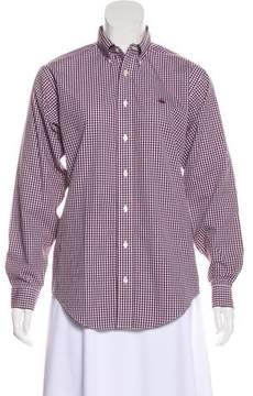 Brooks Brothers Gingham Button-Up Top