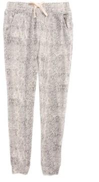 Splendid Girl's Python Print Knit Jogger Pants