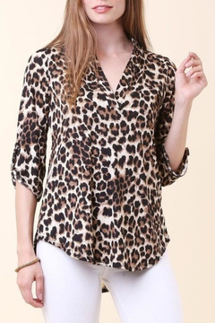 Cezanne Animal Print Blouse