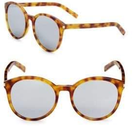 Saint Laurent Classic 54MM Round Sunglasses